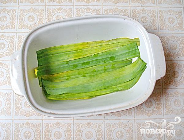 Рыбные стейки на листьях пража - фото шаг 2