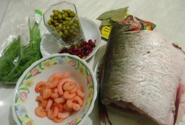 Рецепт Заливное из рыбы и креветок