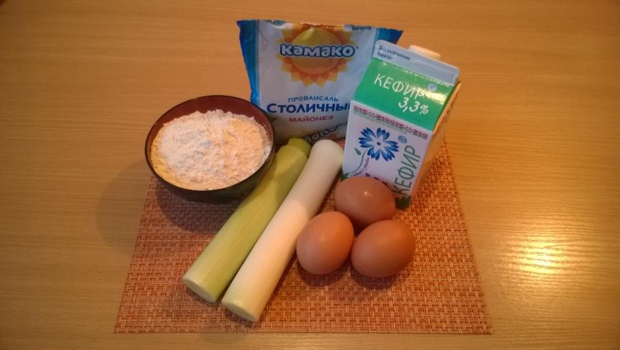 Рецепт Заливной пирог с луком-пореем