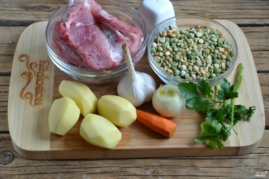 Гороховый суп классический рецепт - фото шаг 1