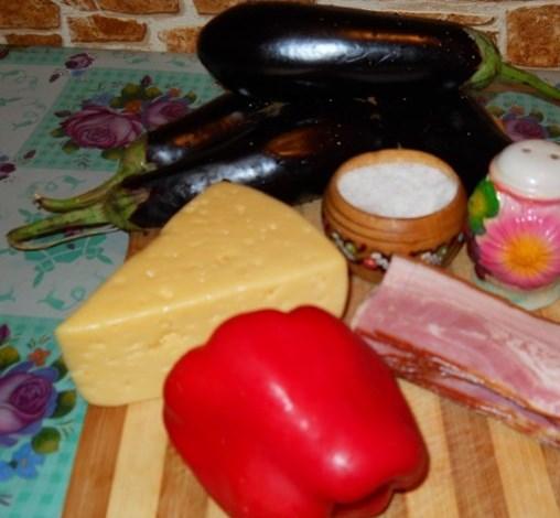 Рецепт Баклажаны с ветчиной