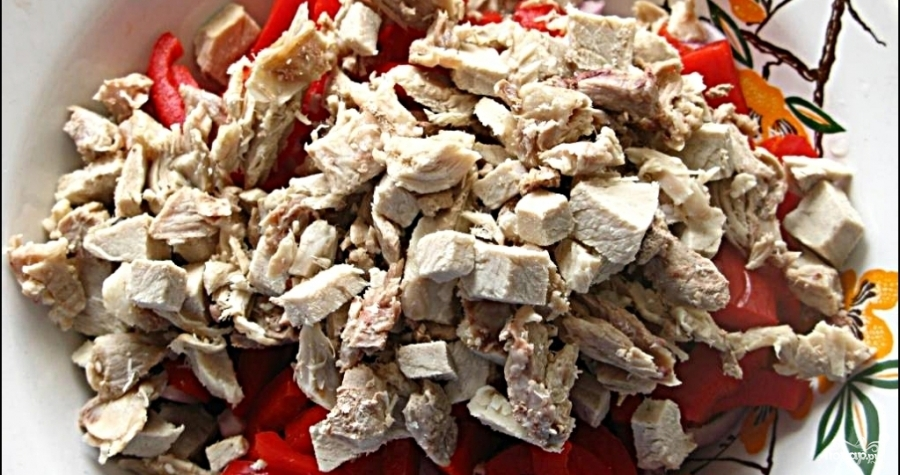 Салат с фасолью и мясом - фото шаг 4