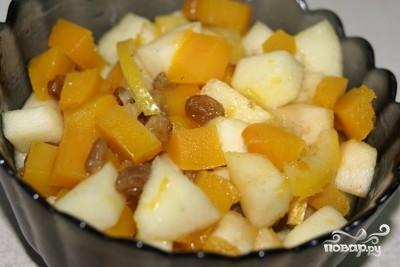 Десерт из тыквы и яблок - фото шаг 4