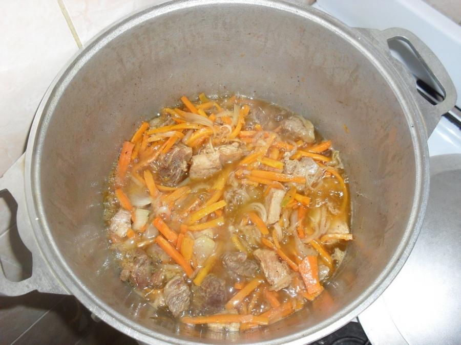 Рецепт Плов узбекский из баранины