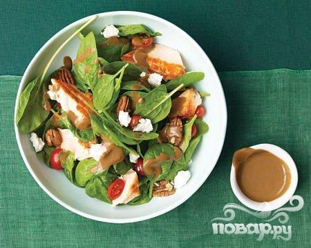 Рецепт Салат со шпинатом и лососем