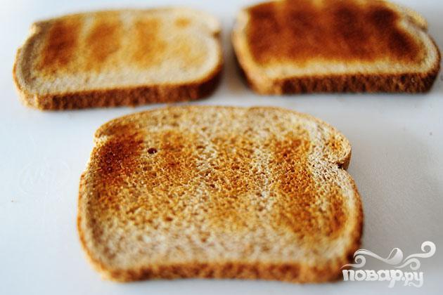 Сэндвич с беконом, ветчиной и индейкой - фото шаг 1