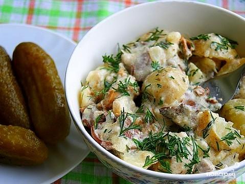 Картофель в сливках в духовке - фото шаг 12