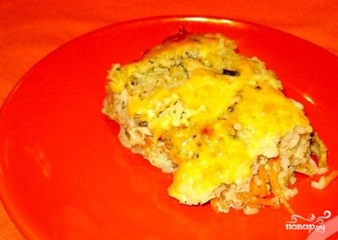 Рисовая запеканка с курицей