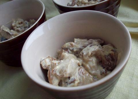 Жульен с грибами и баклажанами - фото шаг 5