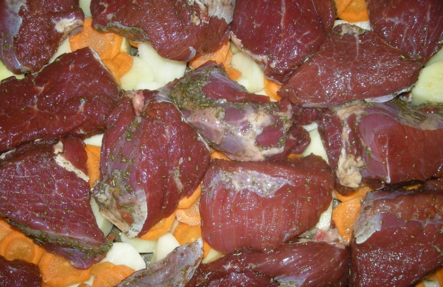 рецепты салатов с говядиной и со свининой