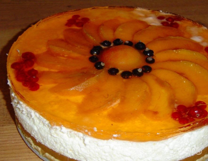 Рецепт с торта с желе и фруктами пошаговый рецепт с
