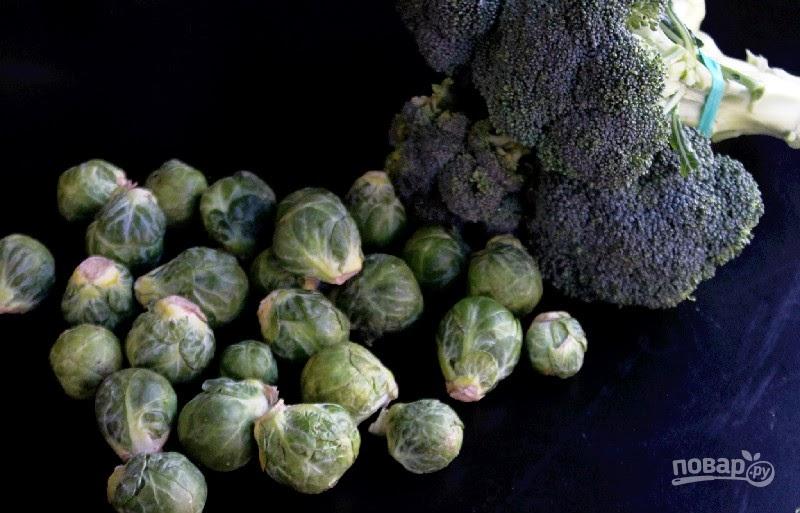 Брокколи и брюссельская капуста в духовке рецепт