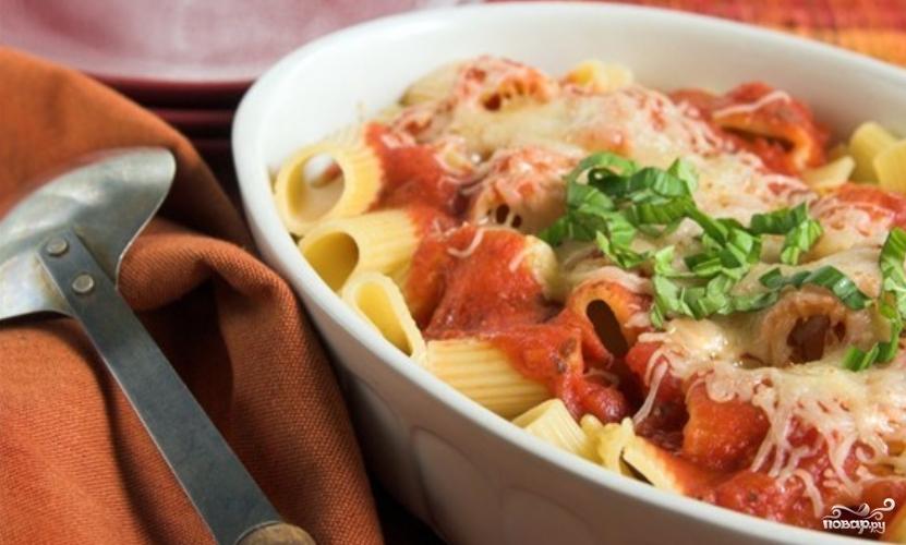 макароны с фаршем в духовке рецепт фото