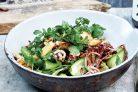 Кальмаровый салат со свежим огурцом