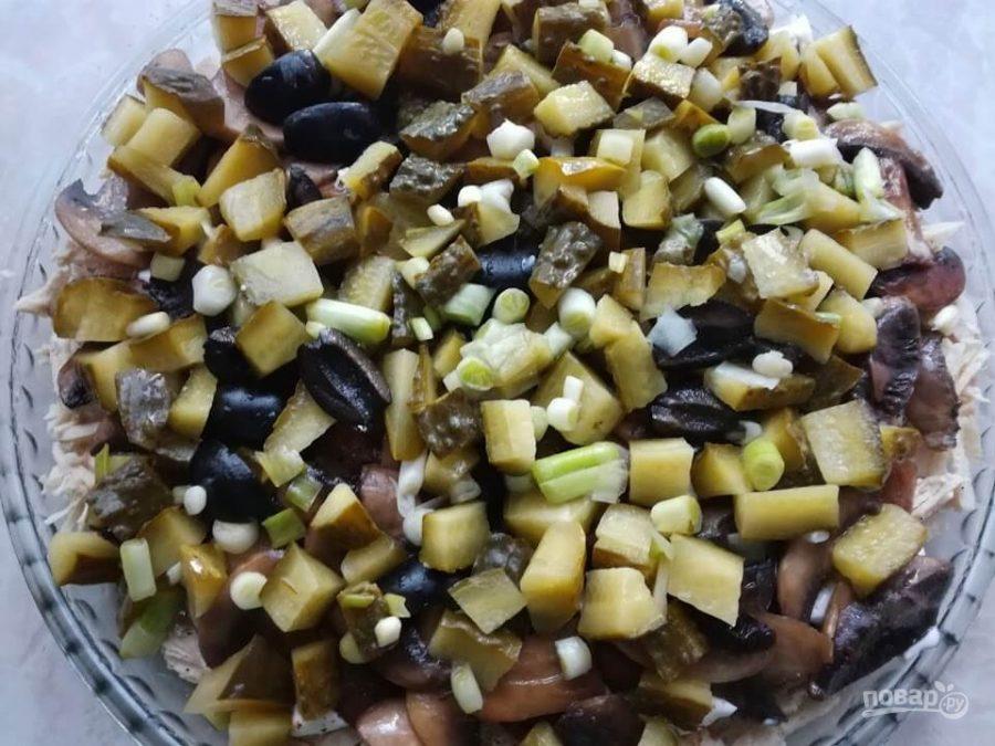 Грибной салат — 45 рецептов с фото. Как приготовить ...
