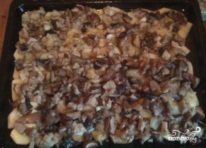 Опята с картошкой в духовке - фото шаг 6