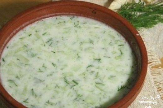 Рецепт Таратор с огурцами и йогуртом