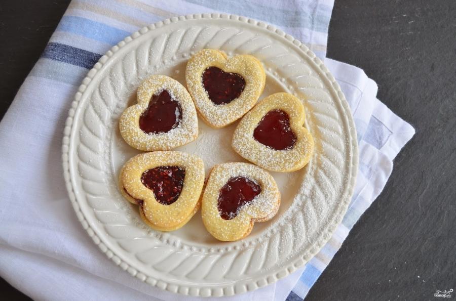 Печенье в виде сердечек - фото шаг 7
