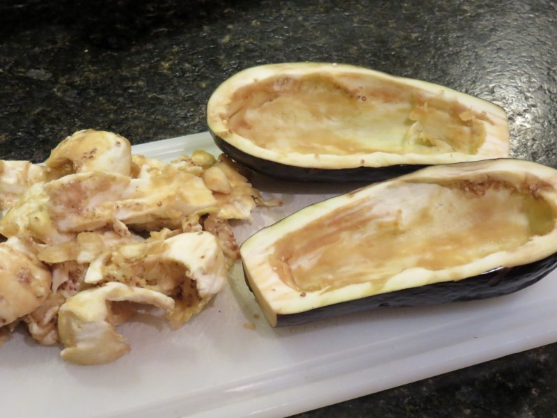 Рецепт Баклажаны, фаршированные фаршем и грибами