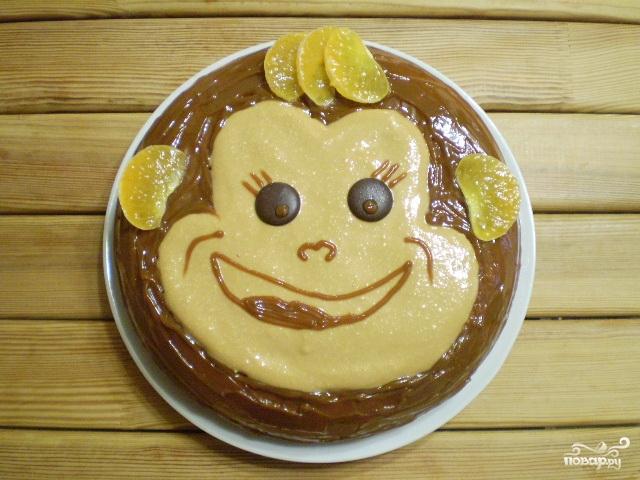 """Торт """"Обезьянка"""" - фото шаг 15"""