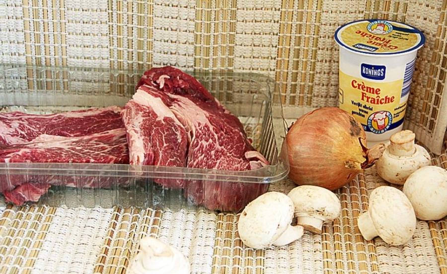 Рецепт Говядина со сметаной