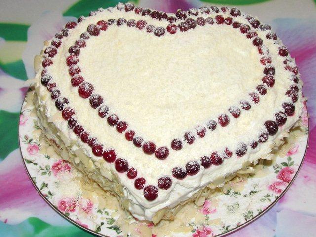 Торт сердце пошаговый рецепт с