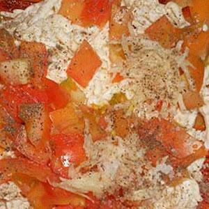 Рыба, запеченная с помидорами и сыром - фото шаг 7