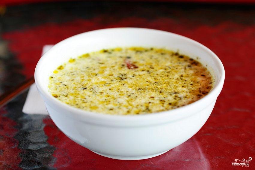 Суп из шпината замороженного