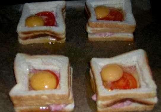 Бутерброды с яйцом и колбасой - фото шаг 4