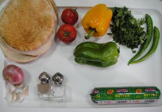 Рецепт Пита с начинкой из овощей