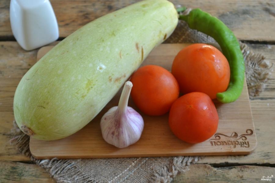 Аджика из кабачков с помидорами - фото шаг 1