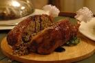 Курица, фаршированная гречкой