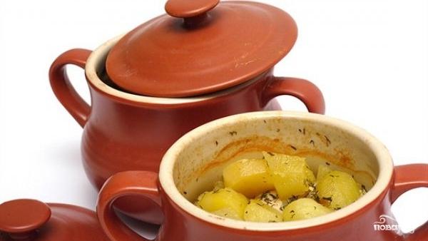 Рецепт Картошка в горшочках в духовке