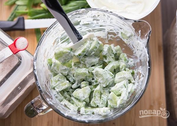 Салат с огурцом и йогуртом