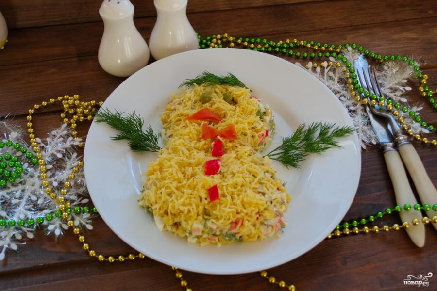 Кальмаровый салат с крабовыми палочками - фото шаг 5