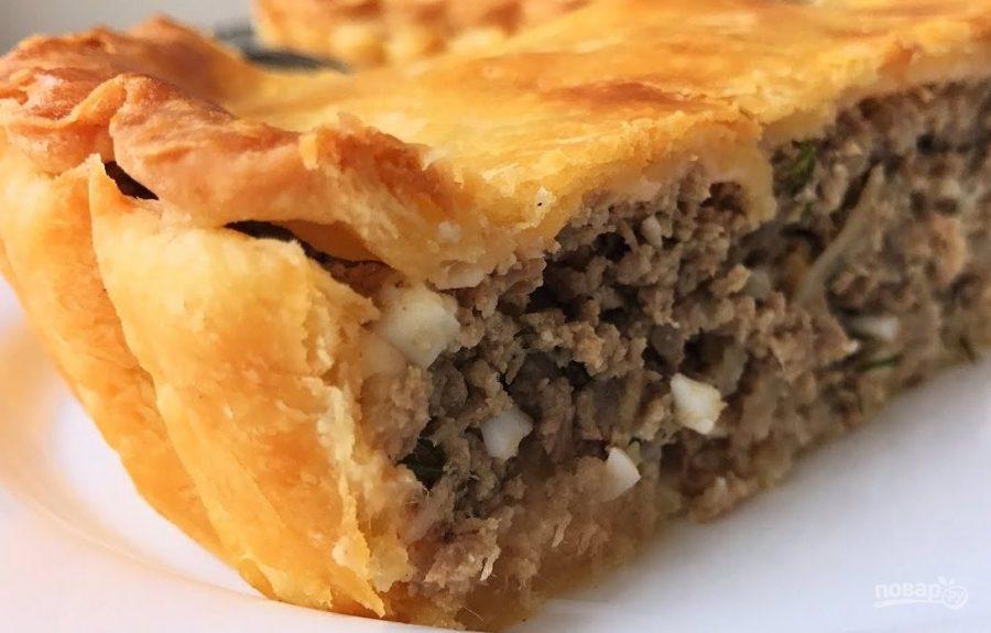 Пирог с мясом (очень вкусно!)