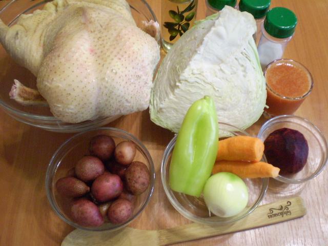 Рецепт Борщ из утки
