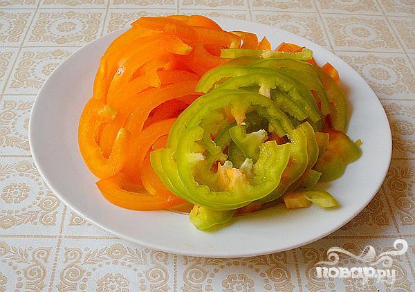 Салат из сердца с копченым сыром и цикорием - фото шаг 4