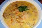 Суп из свежих белых грибов в мультиварке