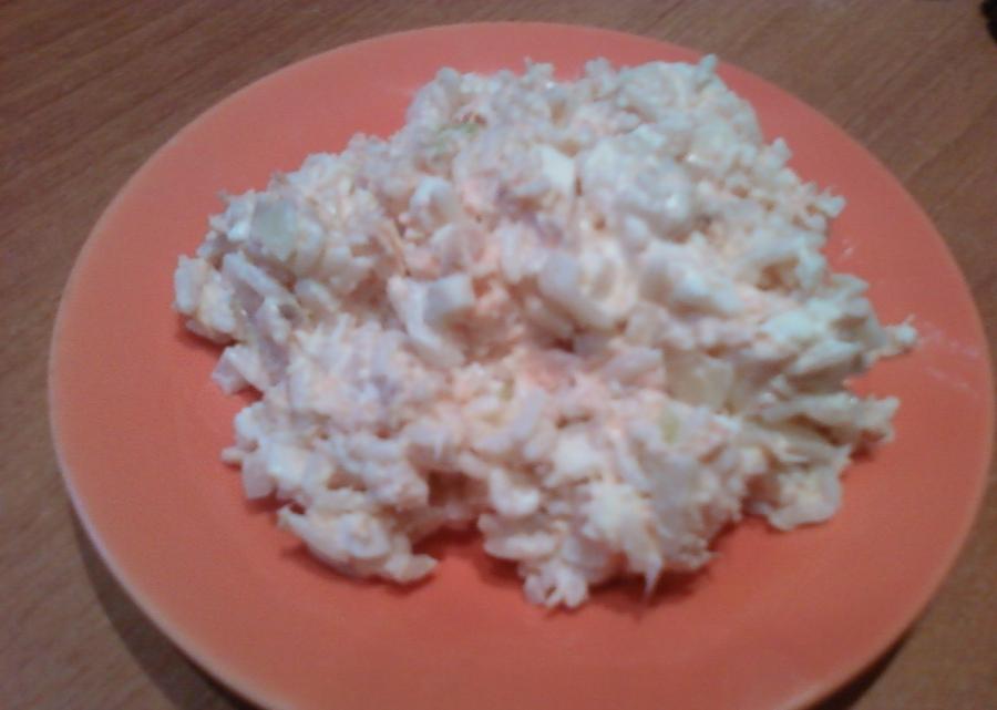 Салат рыбный с рисом - фото шаг 4