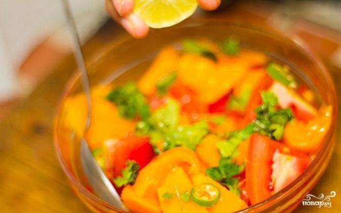 Салат с манго и помидорами рецепты с