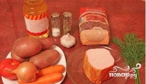 Суп фасолевый с копченостями - фото шаг 1