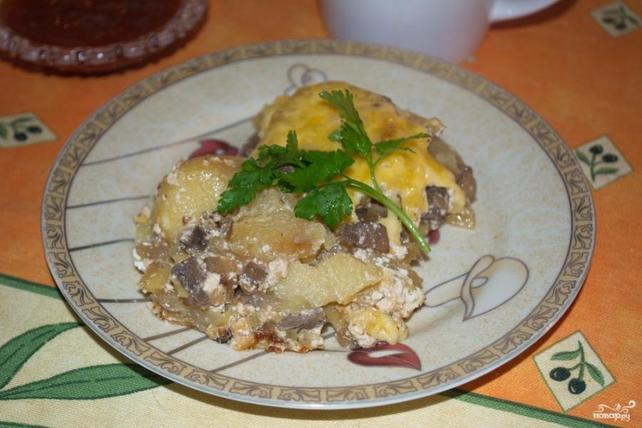 рецепты с грибами шампиньонами и картошкой в духовке