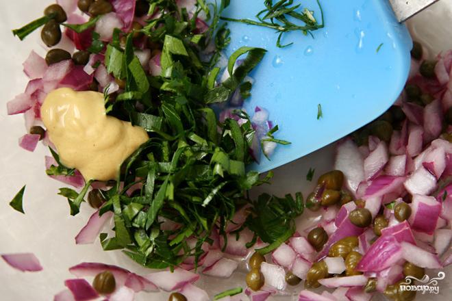 Салат с пастой и лососем - фото шаг 2
