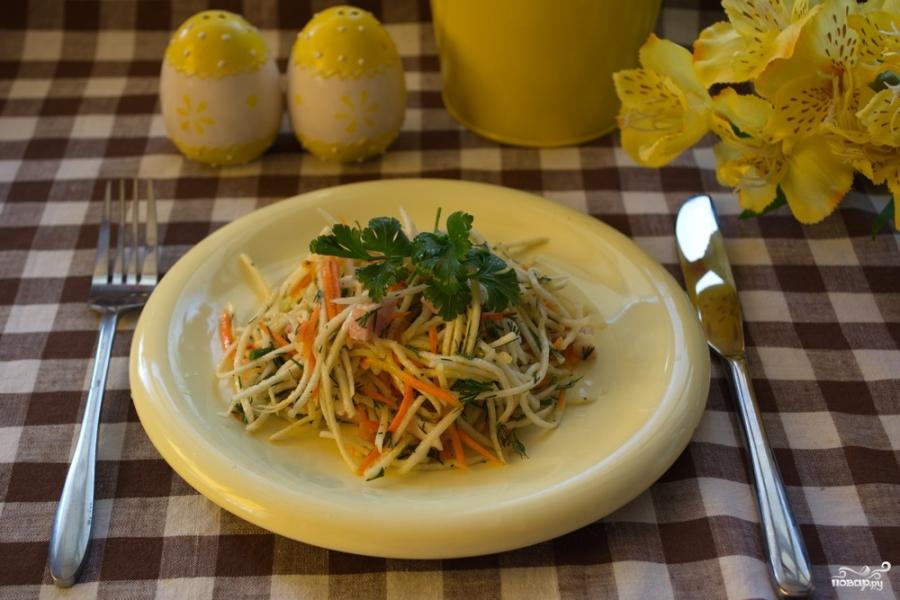 Салат из зеленой редьки - фото шаг 5