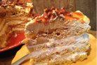 Тыквенный торт с карамелью и орехами