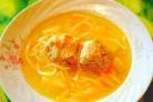 Суп с фрикадельками и макаронами