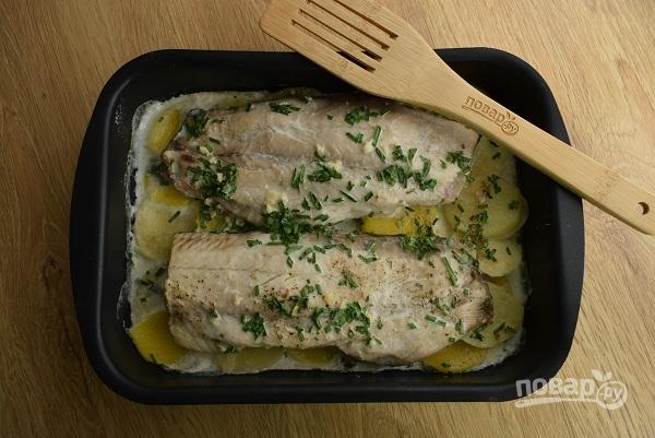 Рыба с картошкой в сковороде рецепт пошагово