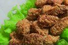 Куриное филе в панировке с кунжутом