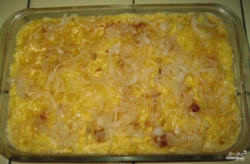 Картофельная запеканка с рыбным фаршем в духовке - фото шаг 3